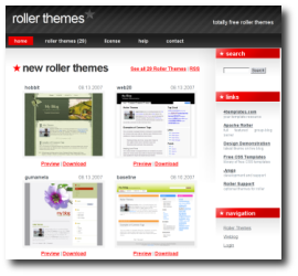screenshot of rollerthemes.com