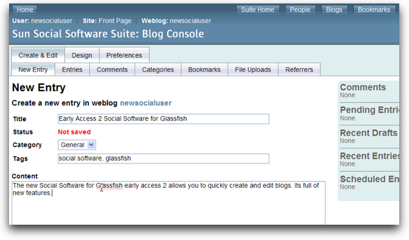 Social Software for Glassfish